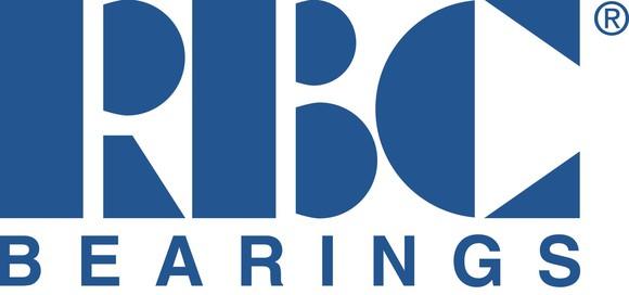 RBC Bearings logo in stylized letters, blue on white.
