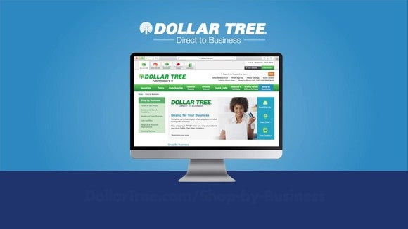 Computer screen showing Dollar Tree's web portal.