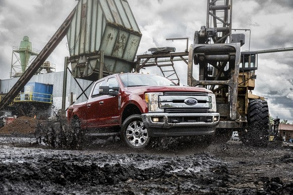 Ford's Super Duty F_Series in a construction area