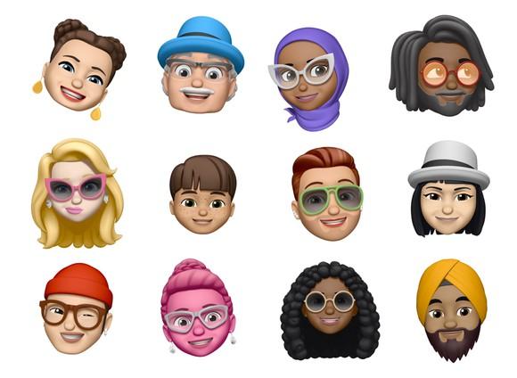 Different personalized Memoji
