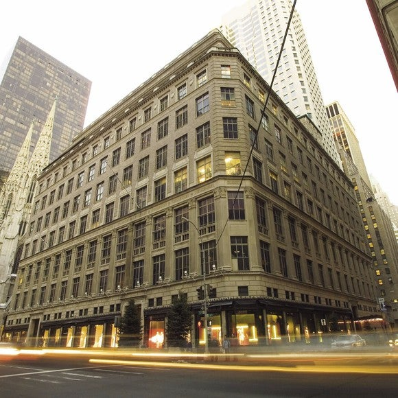 The exterior of the Saks Fifth Avenue flagship store in Manhattan