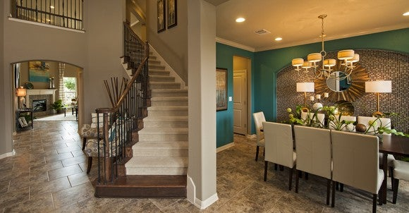 Interior of a Taylor Morrison home in Austin