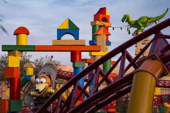 Slinky Dog Dash testing at Disney's Hollywood Studios.