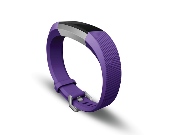 A purple Fitbit Ace against a white background.