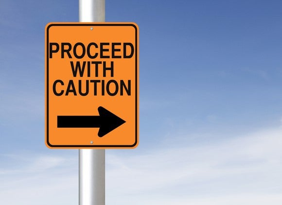 A road caution sign.