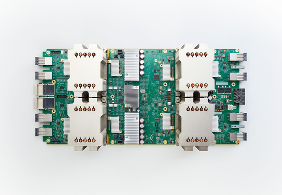 Google's Tensor Processing Unit (TPU) AI chip.