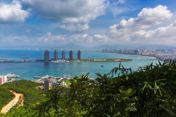 Aerial view of Sanya city in Hainan province of China
