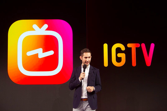Instagram CEO Kevin Systrom speaks at the IGTV launch event in San Francisco