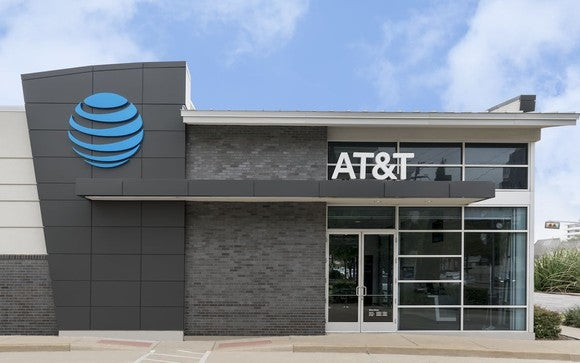 A rendering of an AT&T store.