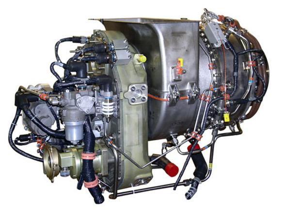 A Honeywell turboshaft engine