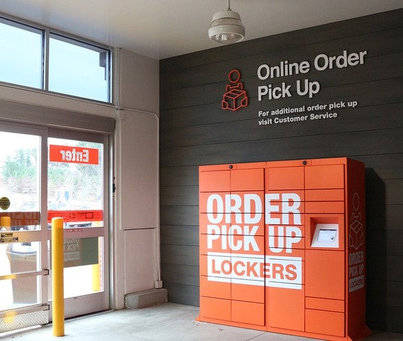 can lockers boost home depot 39 s online sales the motley fool. Black Bedroom Furniture Sets. Home Design Ideas