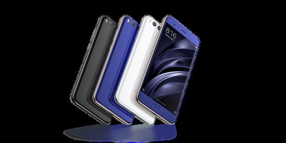 Xiaomi Mi 6 in various colors