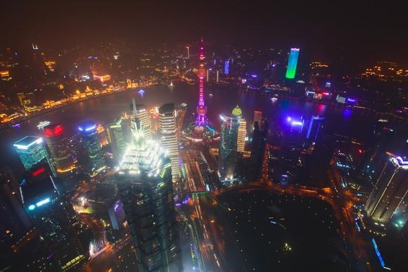 Shanghai at night.