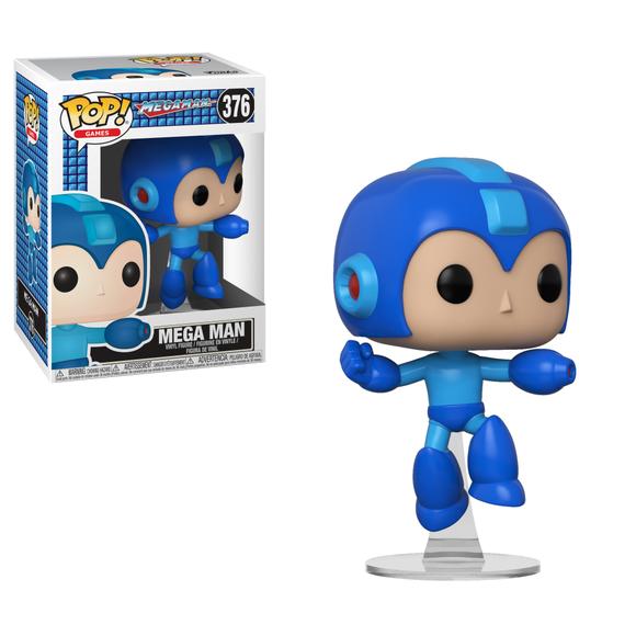 A Pop! figurine of Mega Man.