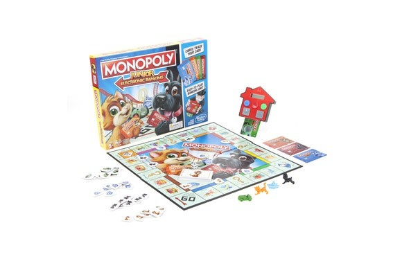 A Monopoly board game.