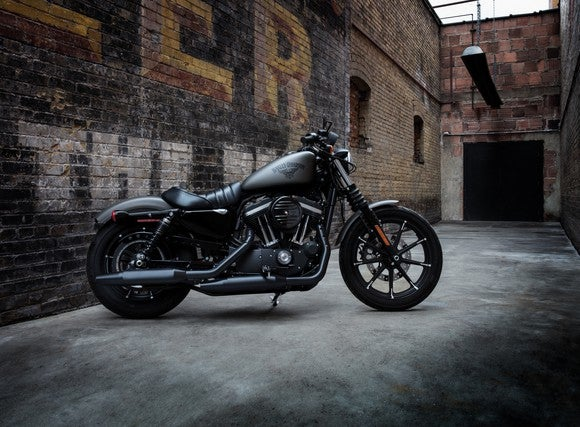 Parked a Harley-Davidson motorcycle