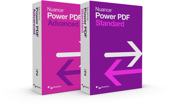 Boxes for Nuance Power PDF products.