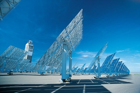 A solar power generating station