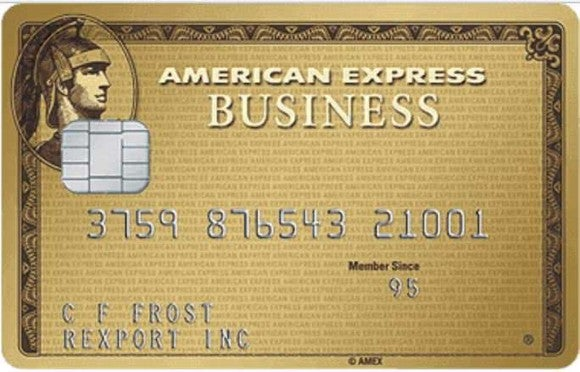 American Express Business Gold card.