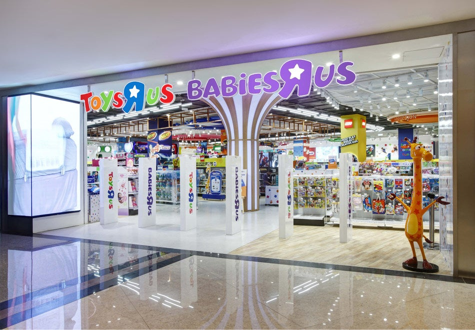 A joint Toys R Us and Babies R Us store