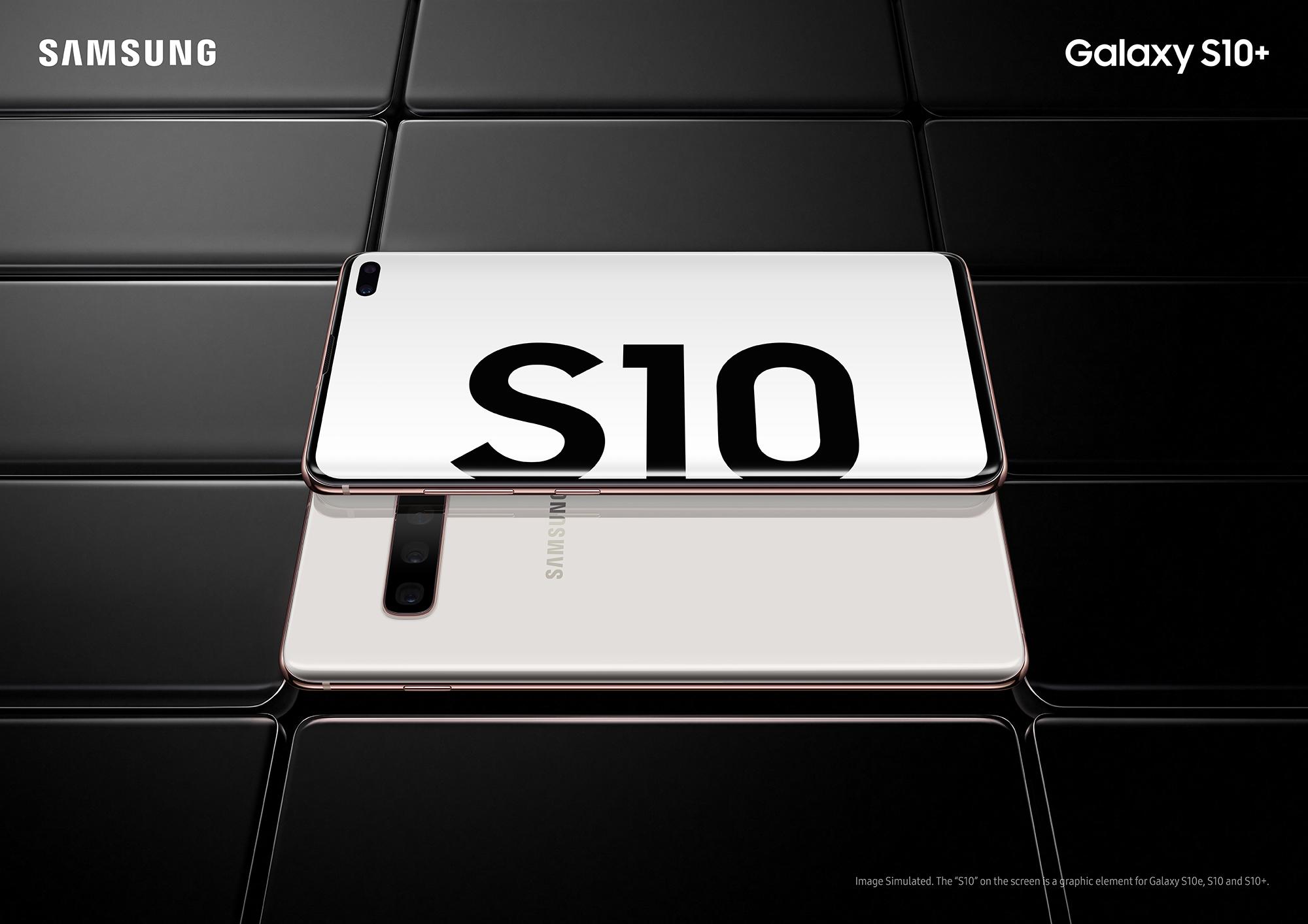 Samsung Galaxy S10 smartphones.