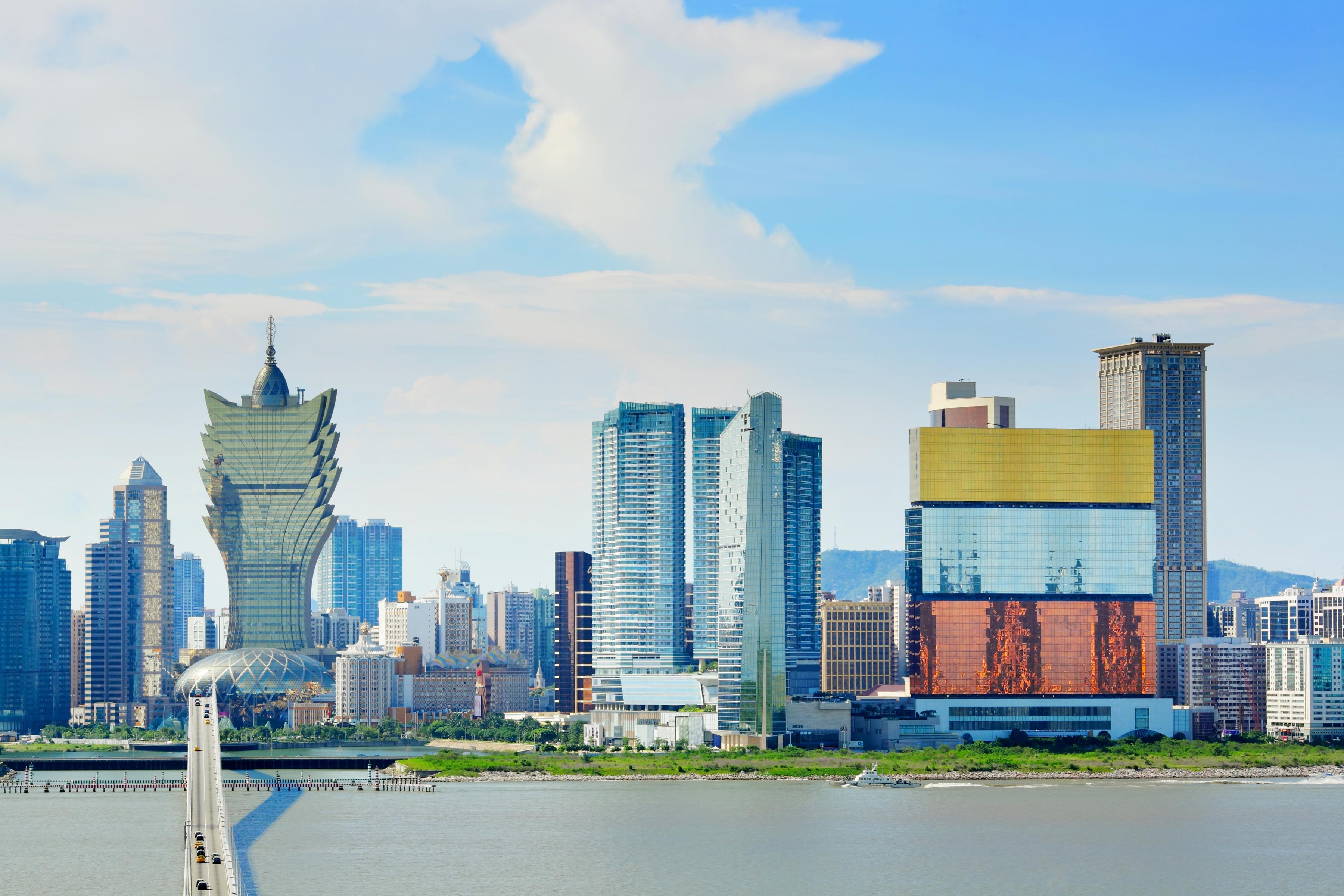 Macau's skyline during the day.