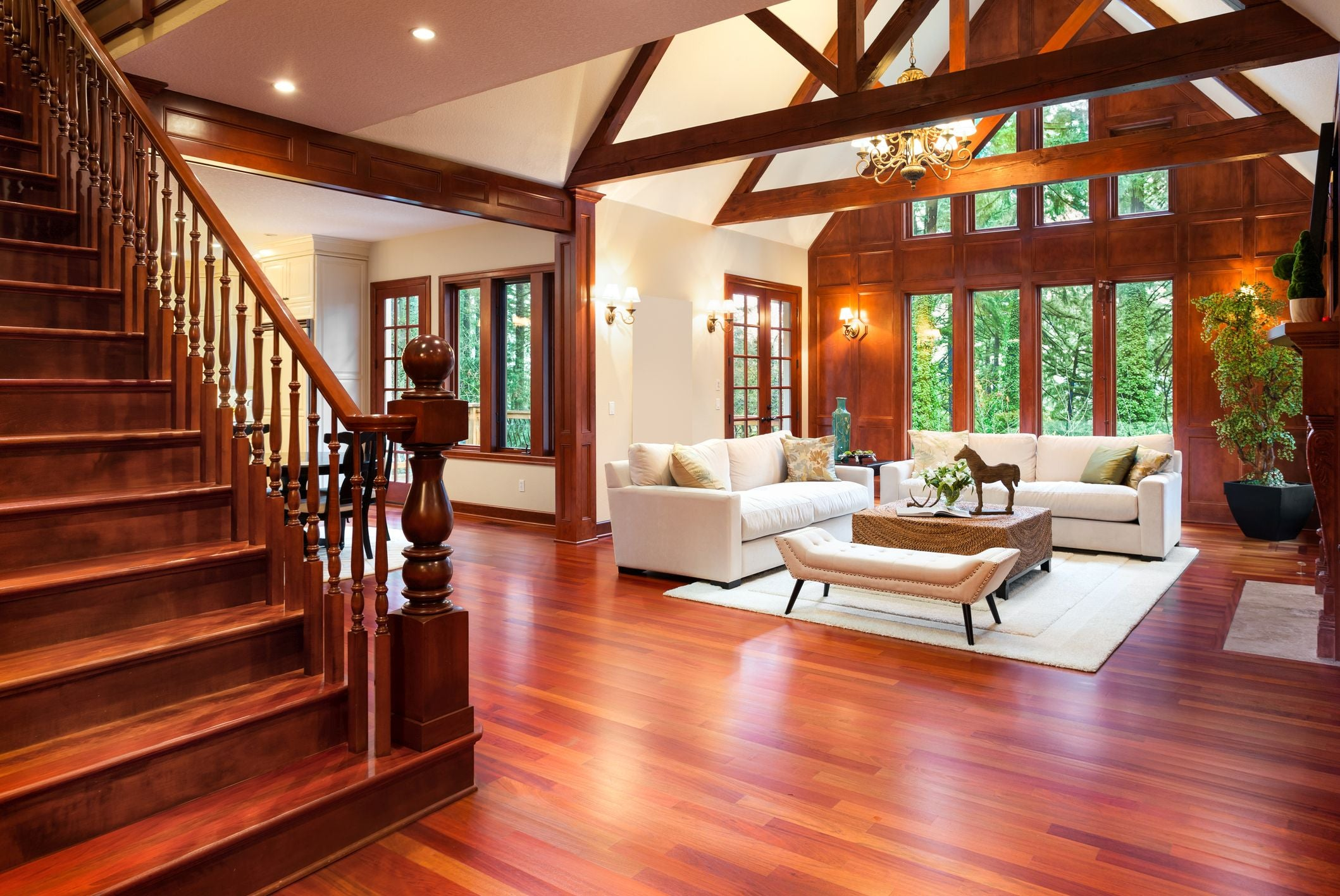 Interior of a fancy home.