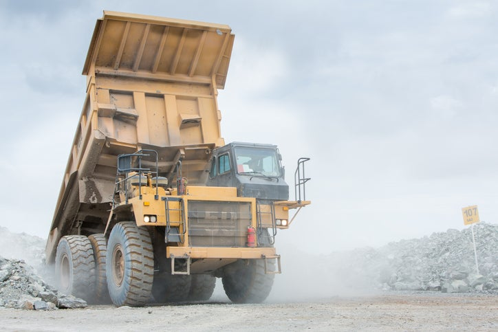 A very large earth mover truck.