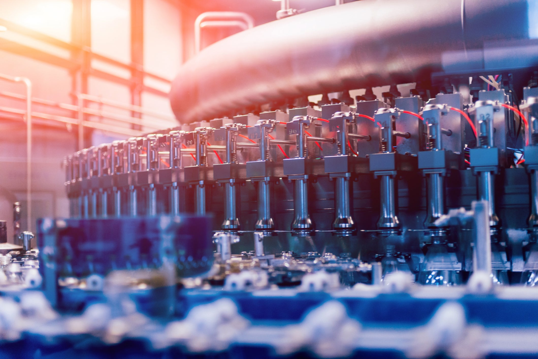 Industrial automation in the food and beverage industry.