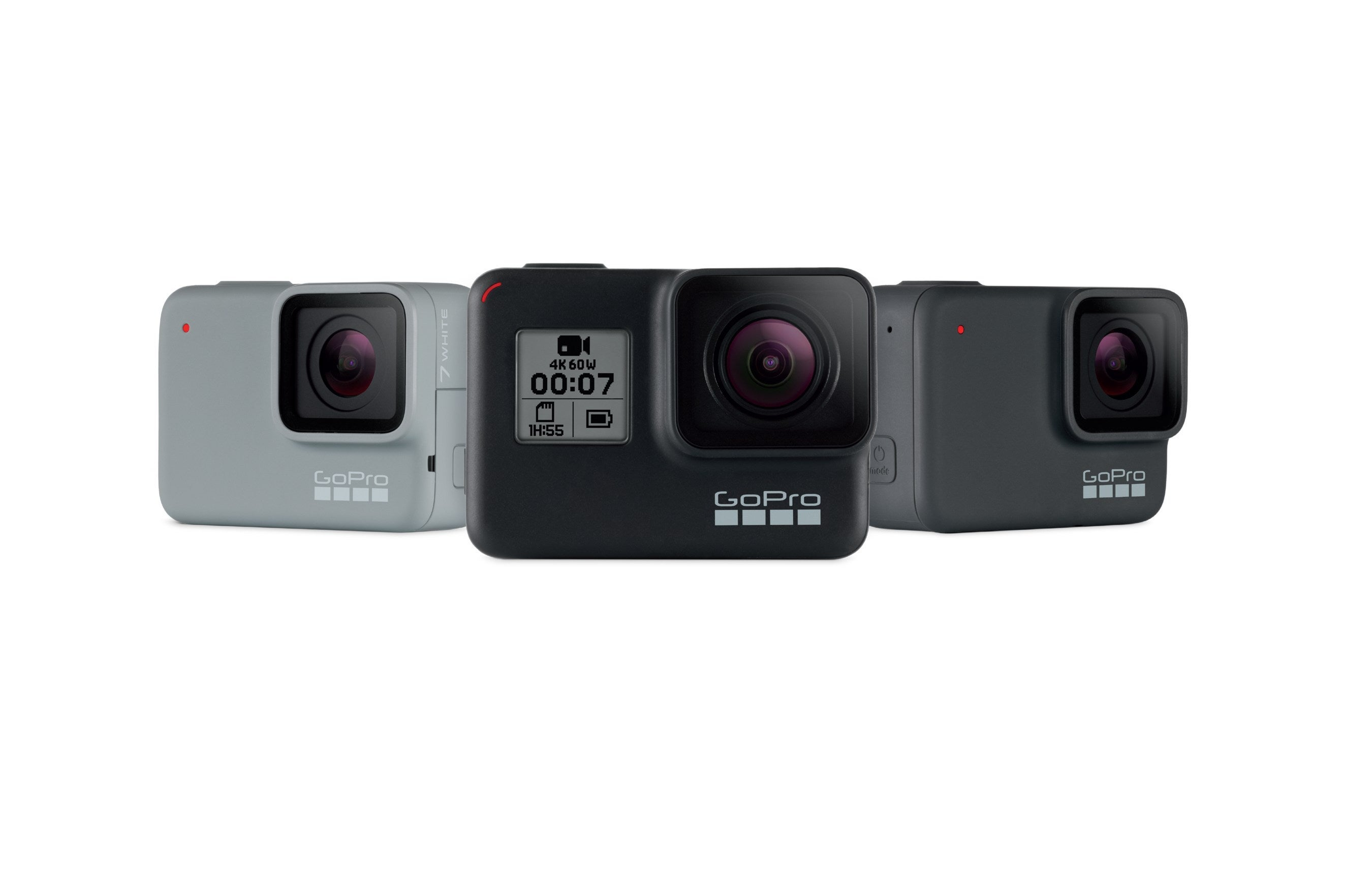 GoPro's Hero7 lineup of three devices.