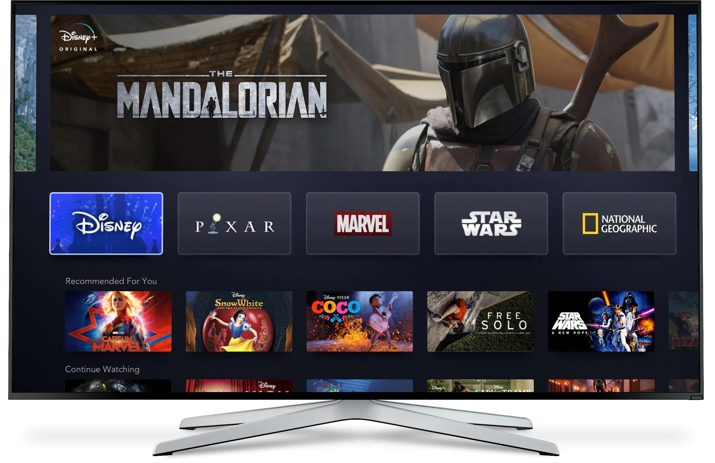 Disney+ on a smart TV