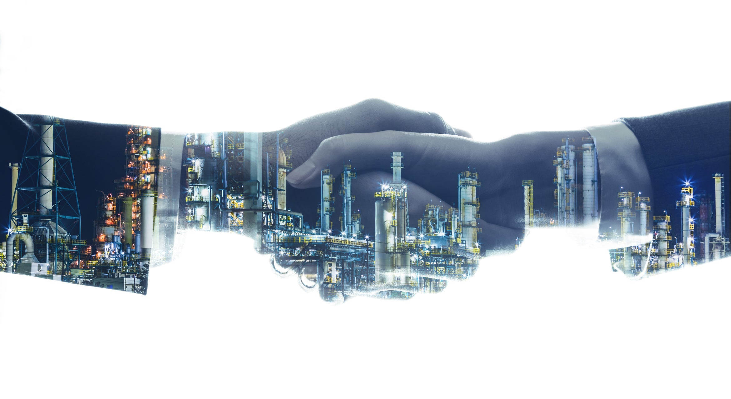 An energy complex in the form of two people shaking hands.