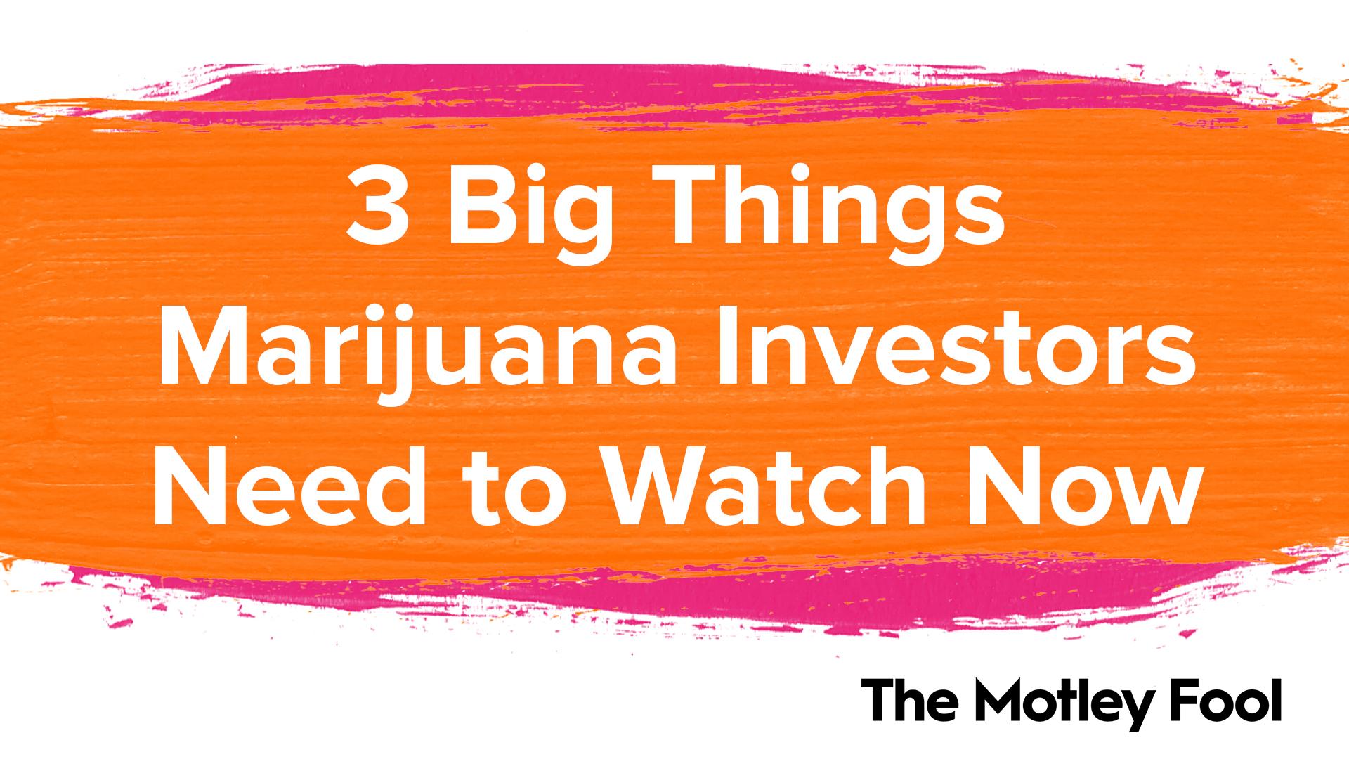 3 Big Things Marijuana Investors Need to Watch Now