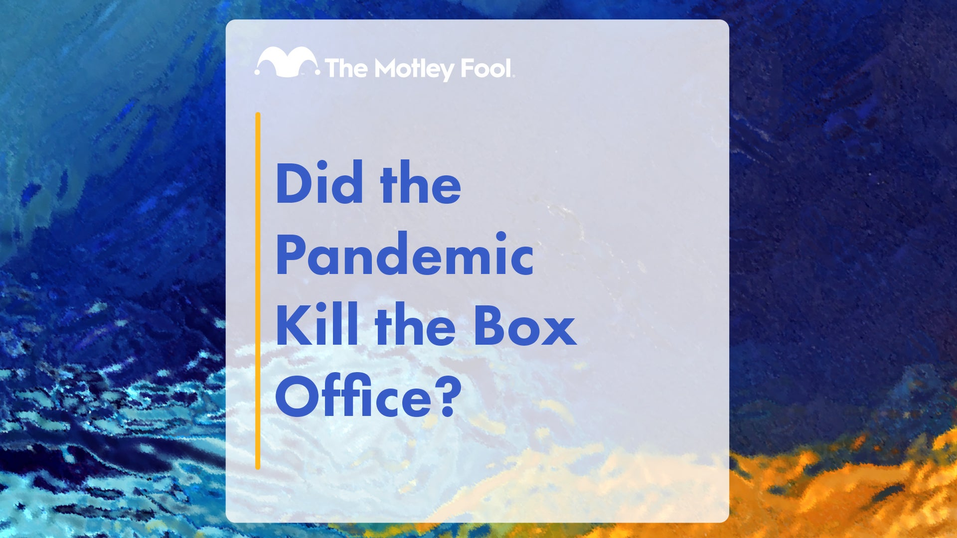 Did the Pandemic Kill the Box Office? Jon Quast, Toby Bordelon, and Brian Withers | Jul 25, 2021