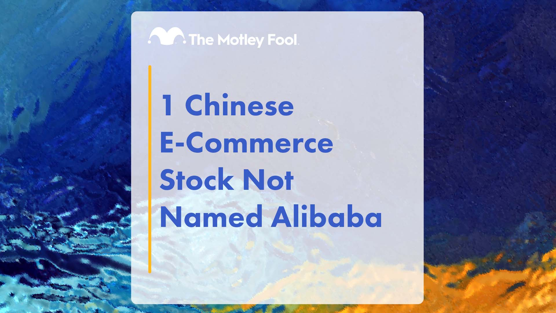 1 Chinese E-Commerce Stock Not Named Alibaba