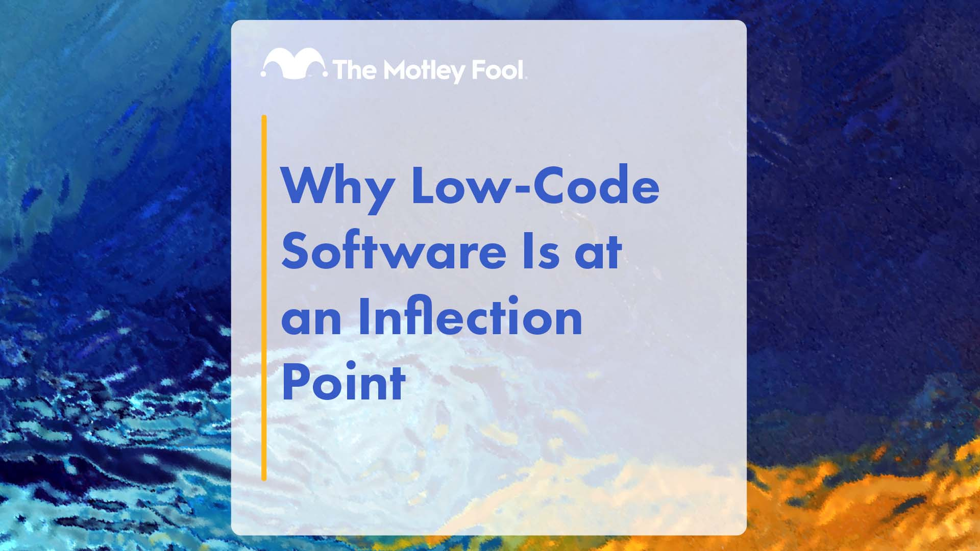 Why Low-Code Software Is at an Inflection Point
