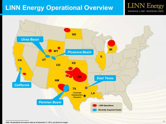 Linn Energy Map