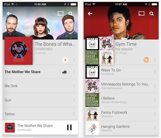 Google Play Music Ios