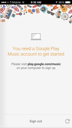 Google Play Music Login