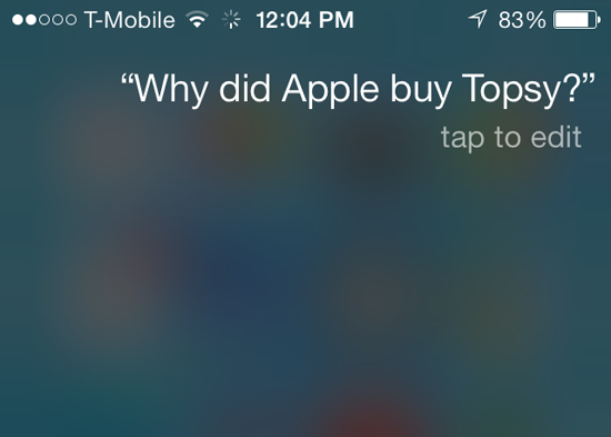 Apple Siri Topsy