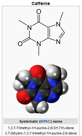Caffeine Chemical Illustration