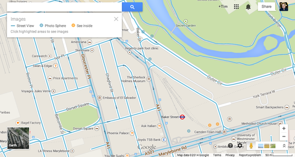 Google Maps View Of Central London