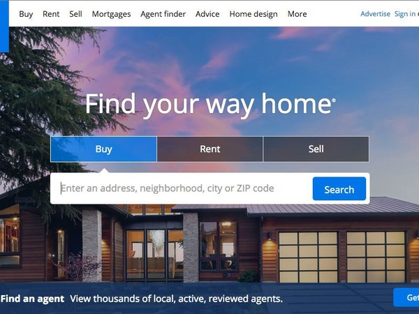 Zillow+homepage