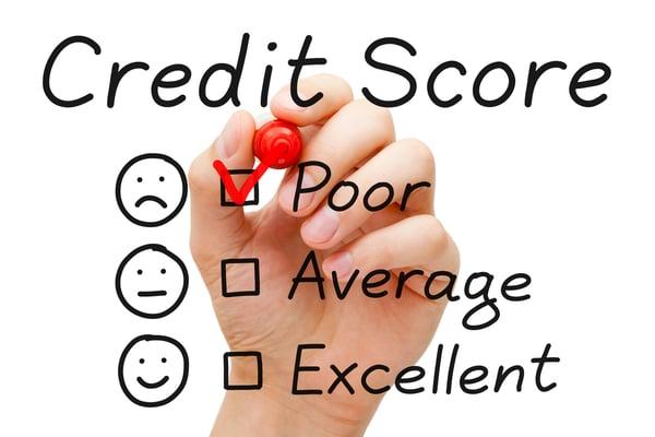 Bad Credit Score Poor Getty