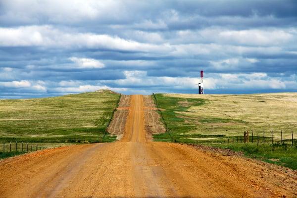 Oil Rig Bakken road