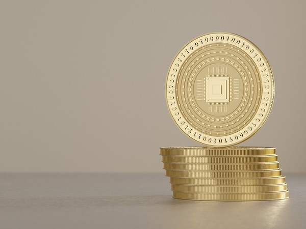 stack of gold coins with zeroes and ones on them cryptocurrency virtual digital currency