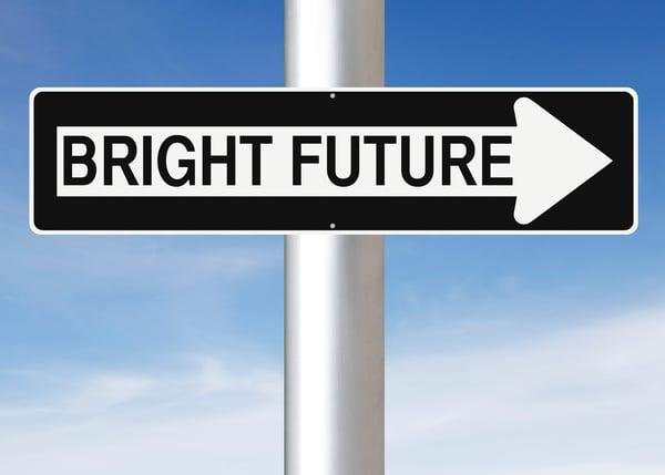 Bright future sign