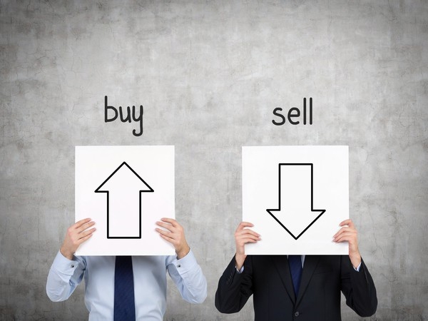 Buy and Sell signs
