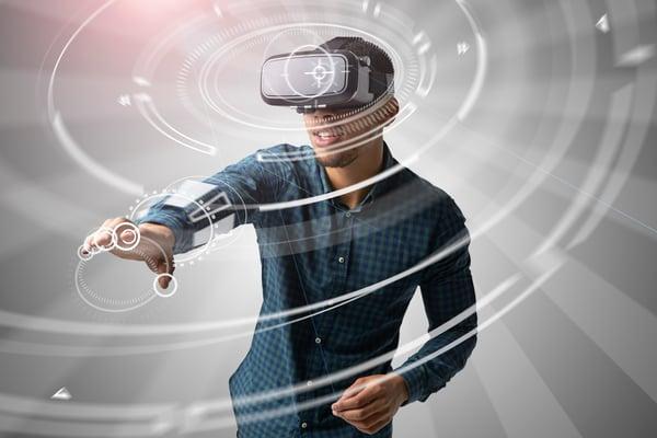 Man Playing VR Game