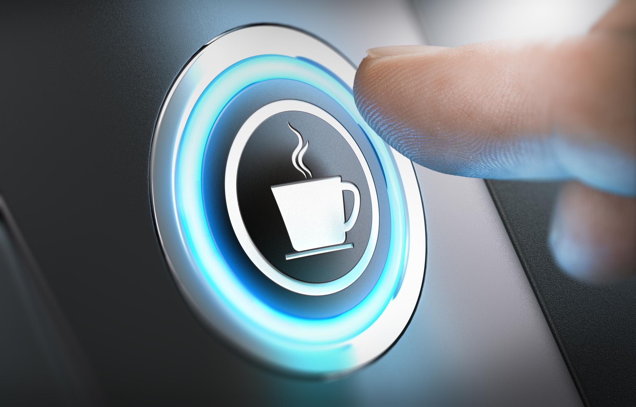 Coffee maker button